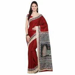 Tussar Silk Kalamkari Print Saree