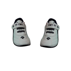 White And Black Kids Casual Shoes, Size: 26-30 Inch