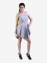 Grey Asymmetric Peplum Dress