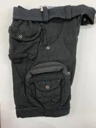 Available in Black,Dark Beige Kids Short Pant