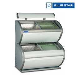 Blue Star Double Decker Display Freezer /Display Freezer /Double Freezer / Supermarket Glass Freezer