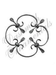 Decorative Sheet Metal Rosettes Flower