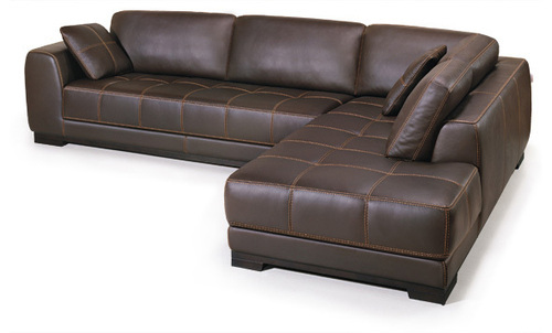 L Shaped Leather Sofa Set