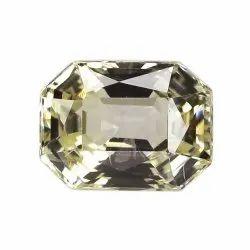 Octagon - Cut Unheat Yellow Sapphire