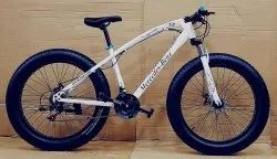 Mercedes Benz White Fat Tyre Cycle