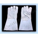 Grey Leather Hand Glove