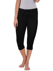 Jockey Black And Ruby Knit Capri