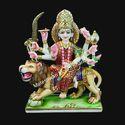 Marble Designer Durga Statue