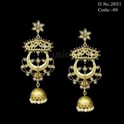 Indian Wedding Kundan Traditional Jhumki Earrings