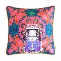 Purple Taxi Glaze Cotton Cushion Cover