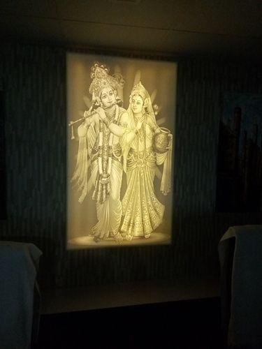 Lord Radha Krishna Backlit Panel
