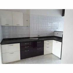 Wooden L Shape Kitchen Cabinet