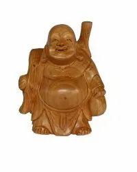 Wooden Laffing Buddha