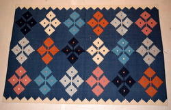 Rectangular Woven Cotton Flat Weave Rug, For Home, Size: 6 X 9 Feet