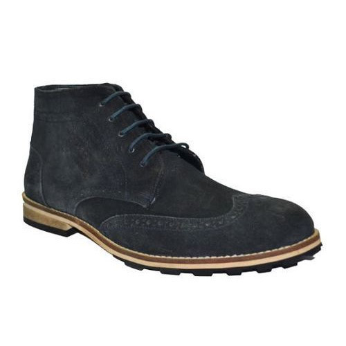 f64af64e8069 Leather Mens High Ankle Casual Shoes