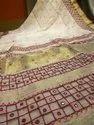 Cutwork Linen Sarees