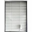 White Iron Window Plain Venetian Blind