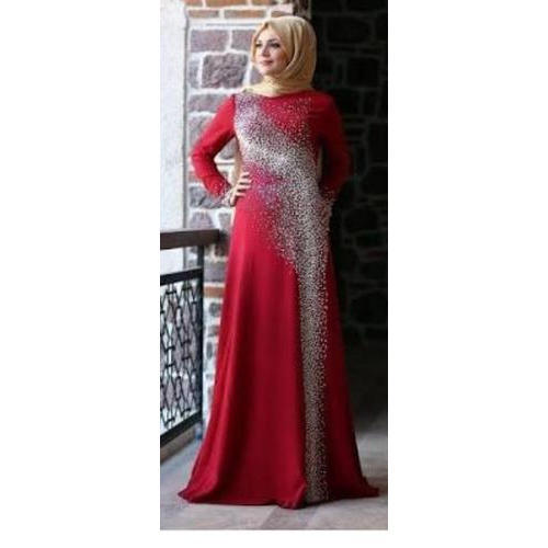 a93adfb60b4c8 Ladies Full Sleeve Red Waterfall Abaya, Size: XL, Rs 4500 /piece ...