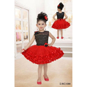 Red And Black. Party Wear Frock