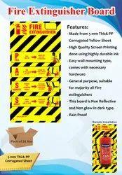 Fire Extinguisher Board