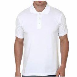 Cotton White Collar T Shirt