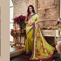 Jacquard Georgette Printed Saree