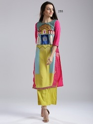 Fancy Long Chiffon Kurti