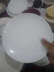 White Platter Ceramic Serving Plate, For Hotel