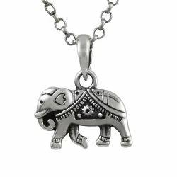 Classy Style Silver Elephant Charm Pendant