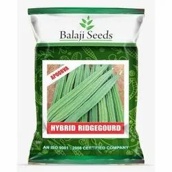 Green Hybrid Ridge Gourd Seeds, For Agriculture, Packaging Size: 50 Gram