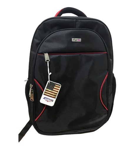 Polyester Plain College Laptop Backpack, Capacity: 20l, Size: 18 X 14 X 6 Inch