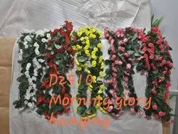 Artificialflower Plastic&Polyester D2510 Artificial Morning Glory Hanging, Packaging Type: Carton, Packaging Size: 240 Pieces