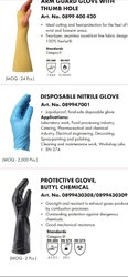 Disposable gloves, For Safety, Size: Standard