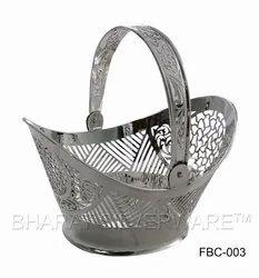 Pure Silver Designer Flower Basket