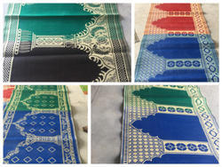 Green Islamic Prayer Mat, Size: 3x9 Ft 5x10 Ft