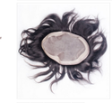 7x5 Inch Human Hair Black
