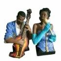 Polyresin African Set Statue, For Interior Decor