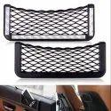 Black Polyester Net Bag Holder Pocket Organiser Universal - One Set, For Car