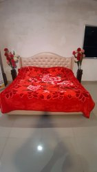 Double Bed Premium Red Blankets