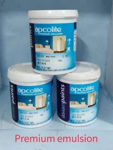 Asian Paints Matt Apcolite Premium Emulsion White For Interior Walls Packaging Type Can Rs 260 Litre Id 14154477997