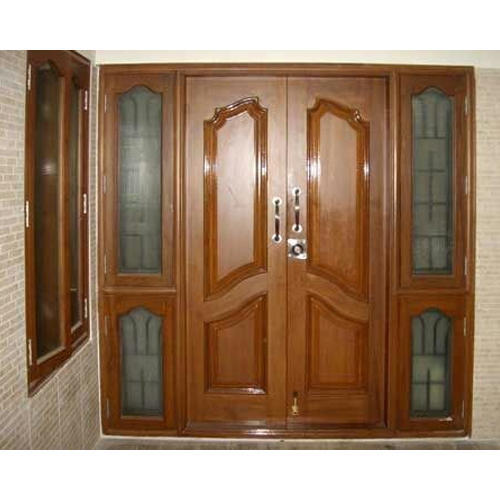 Fancy Wooden Double Door