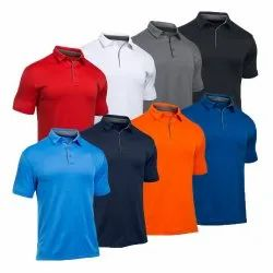 Polo Neck Plain Mens Half Sleeve Polo T Shirt, Size: S, M, L, XL, Packaging Type: Packet