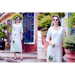 Ladies Rayon Western Dress