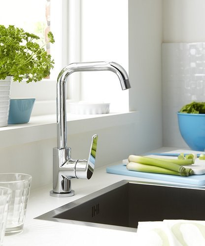 Alton Ocean Single Lever Kitchen Sink Mixer Tap / 360 Swivel Spout ...