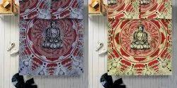 Cotton Printed Buddha Double Duvet Rajai Cover