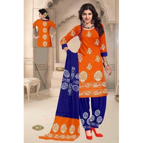 Cotton Wax Batik Designer Suit