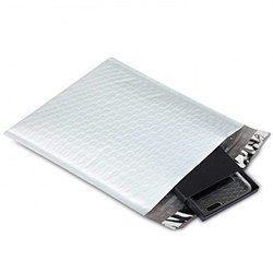 White And Black Poly Bubble Mailers