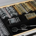 Trial  Lens set Alluminium case imported 38mm Golden silver