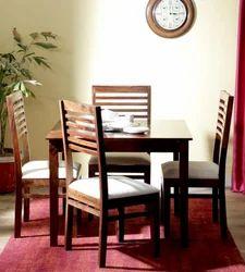 Provincial Teak Colour Four Seater Dining Set