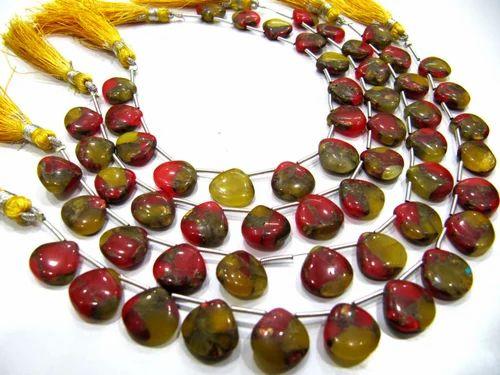Heart Shape Briolettes Beads 7 Inch Long Perlenweben & Schmuckherstellung GEMS-WORLD BEADS GEMSTONE 1 Strand Emerald Color Hydro Quartz Facet 6MM Approx